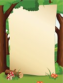 Forest frame with paper background