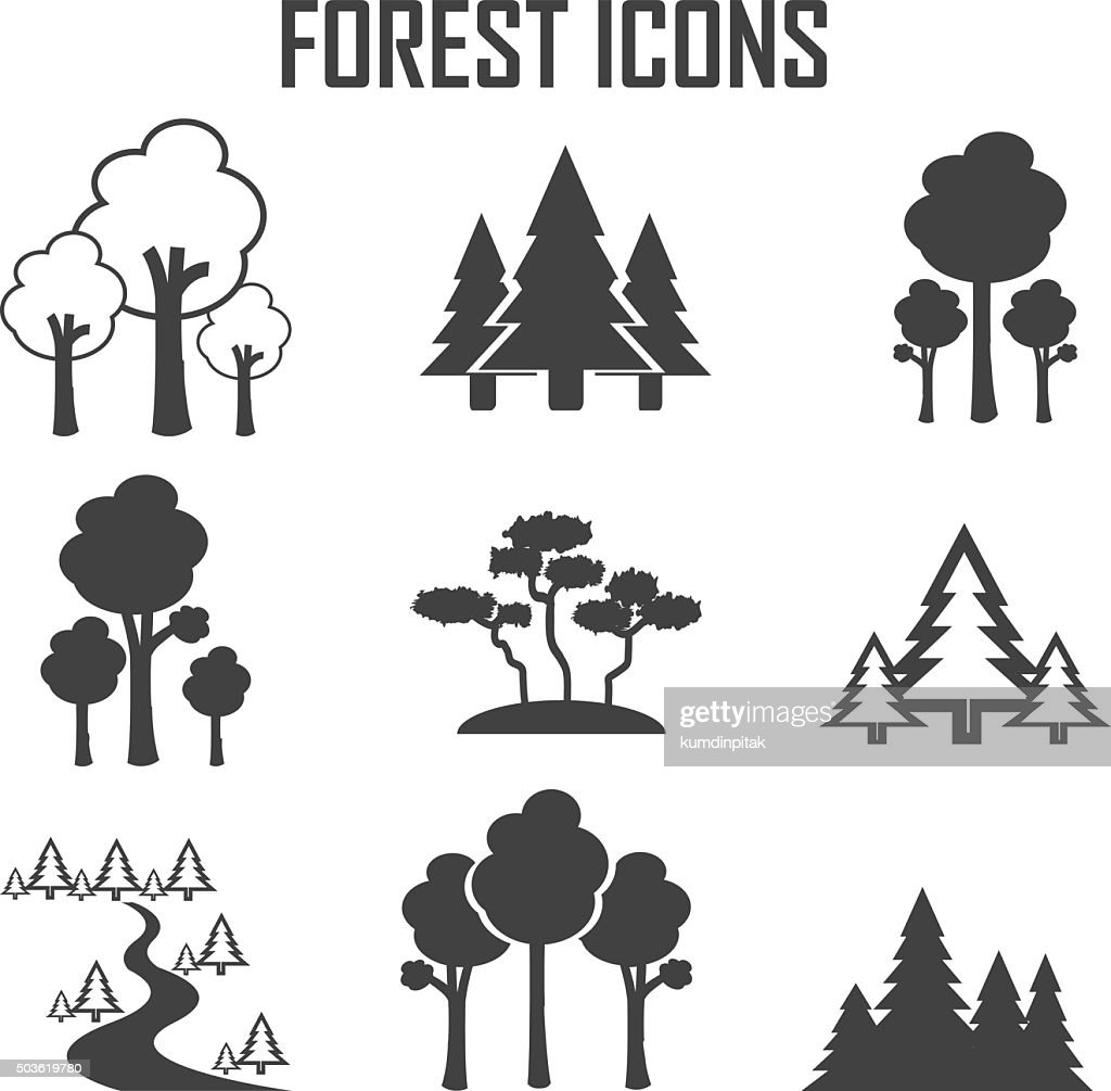 forest icon set.