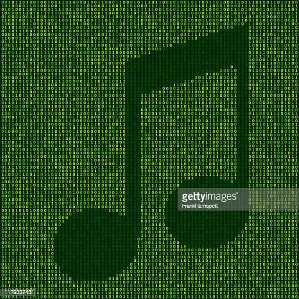 Forest Music Note Zeichen Binärzahlen Vektormuster