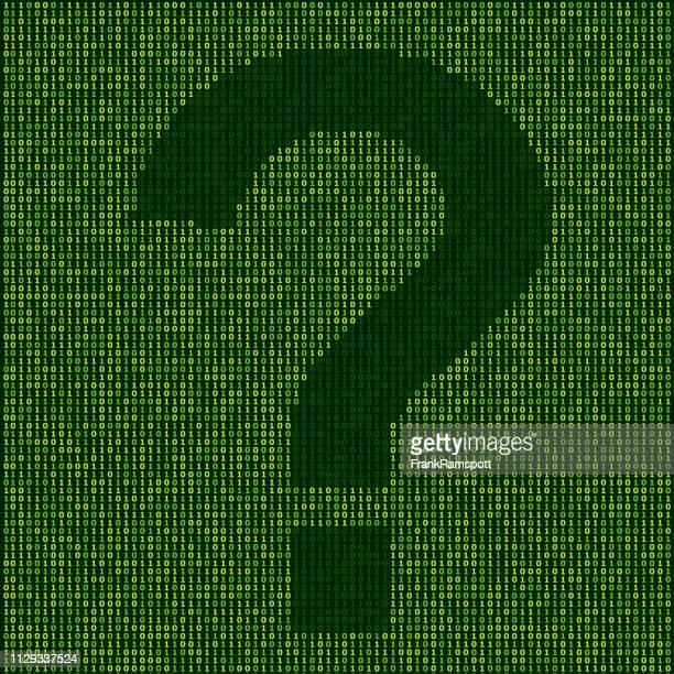 Wald Frage Mark Zeichen Binärzahlen Vektormuster