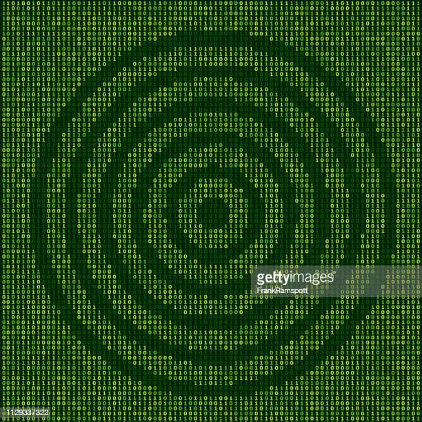Forest Ziel Zeichen Binärzahlen Vektormuster