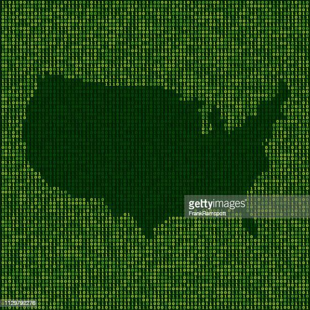 Forest USA Karte Binärzahlen Vektormuster