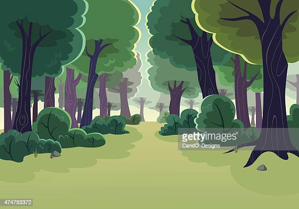 forest - tree stock illustrations, clip art, cartoons, & icons