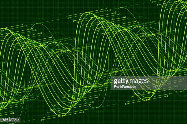 Forest Vektor Sinuswelle Graph Muster Horizontal