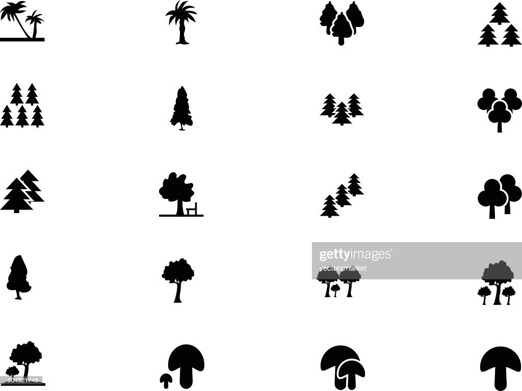 Forest Vector Solid Icons 4
