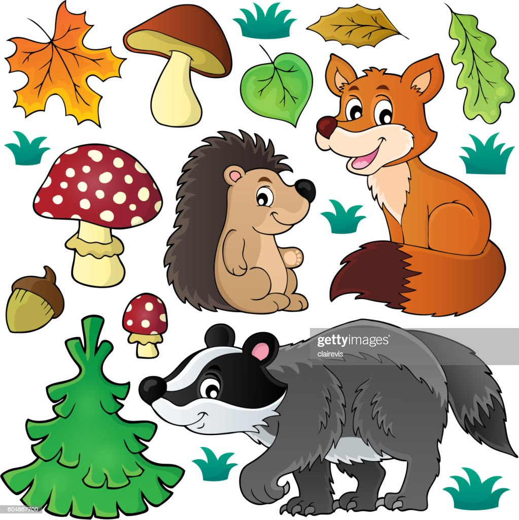 Forest wildlife theme set 1