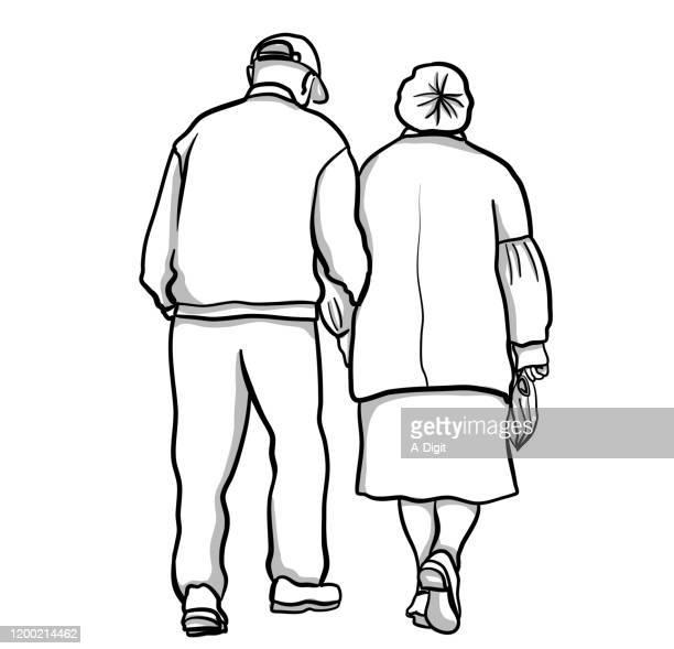 永遠と永遠に - 年配のカップル点のイラスト素材/クリップアート素材/マンガ素材/アイコン素材