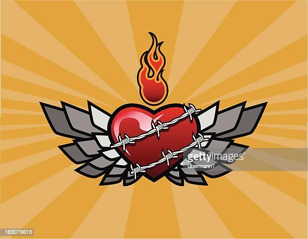 Forever Flying corazón con fondo