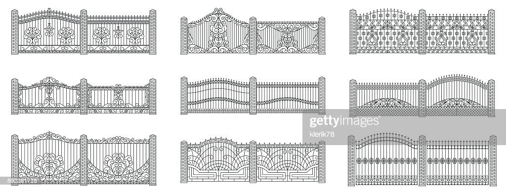 Forged gates and fences set