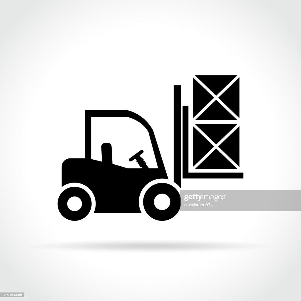 fork lift icon on white background