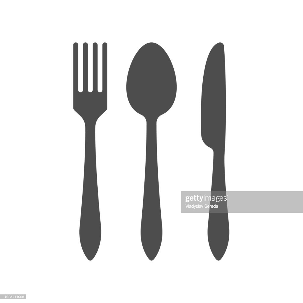 Fork, spoon and knife icon