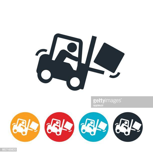 Forklift Accident Icon