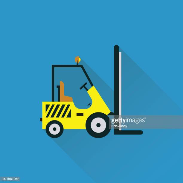 Forklift Flat Icon