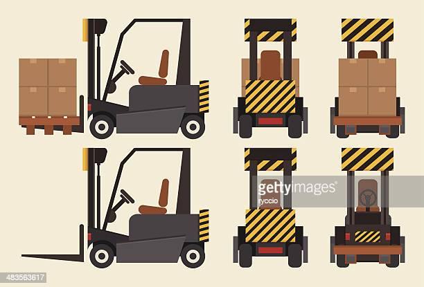 Forklift front, back and side