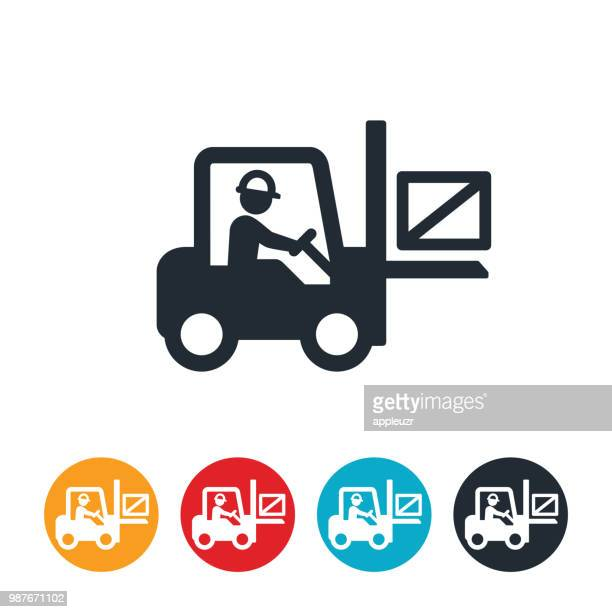 Forklift Operator and Forklift Icon