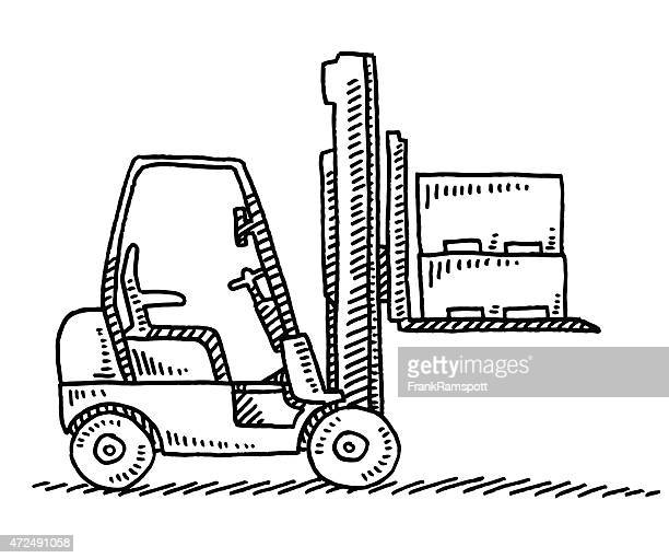 Forklift Side View Drawing