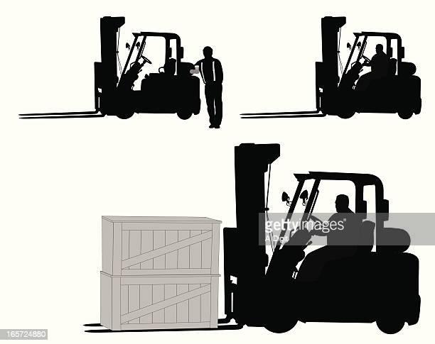 Forklift Vector Silhouette