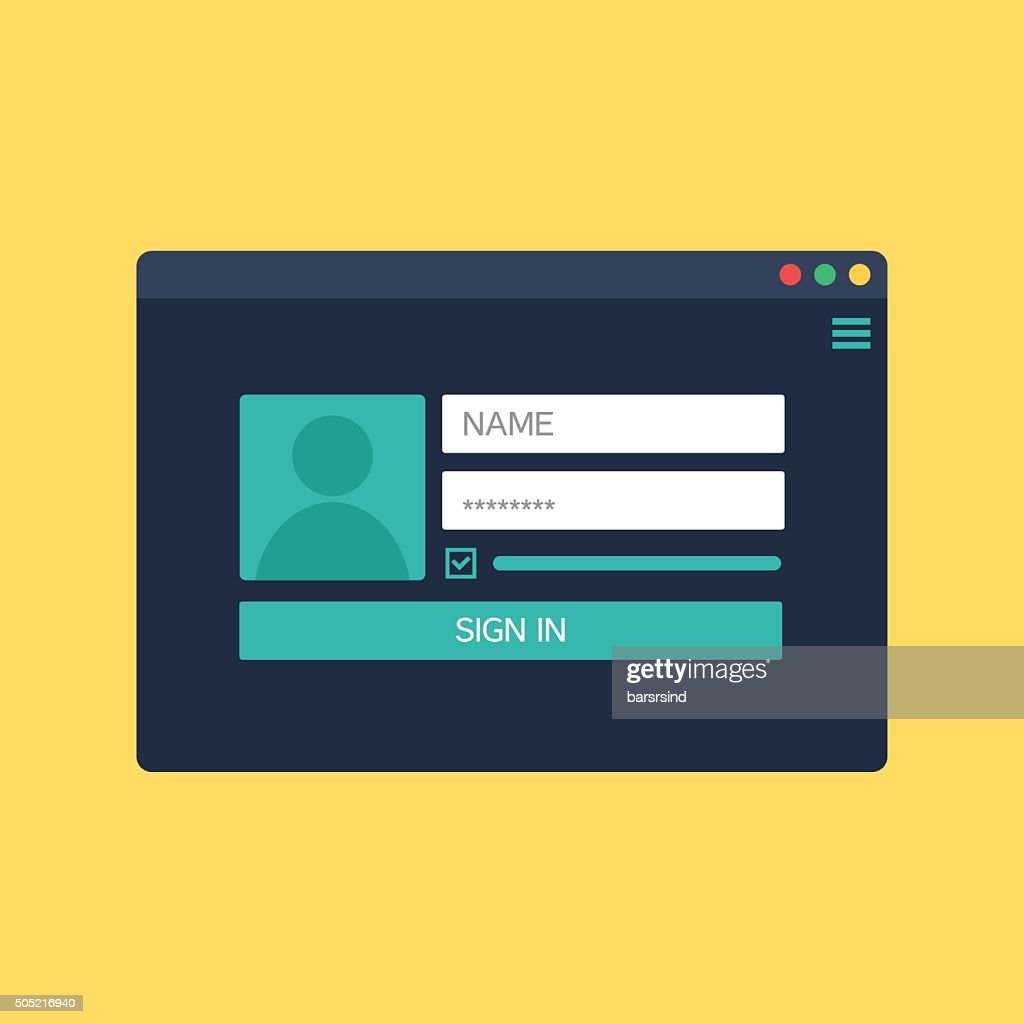 form of login to account