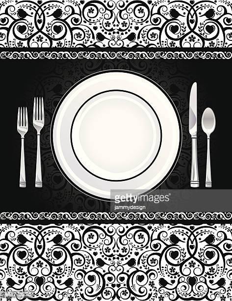 Formal Place Setting Invitation