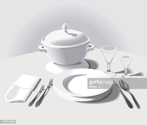 Formal place setting - with soup bowl