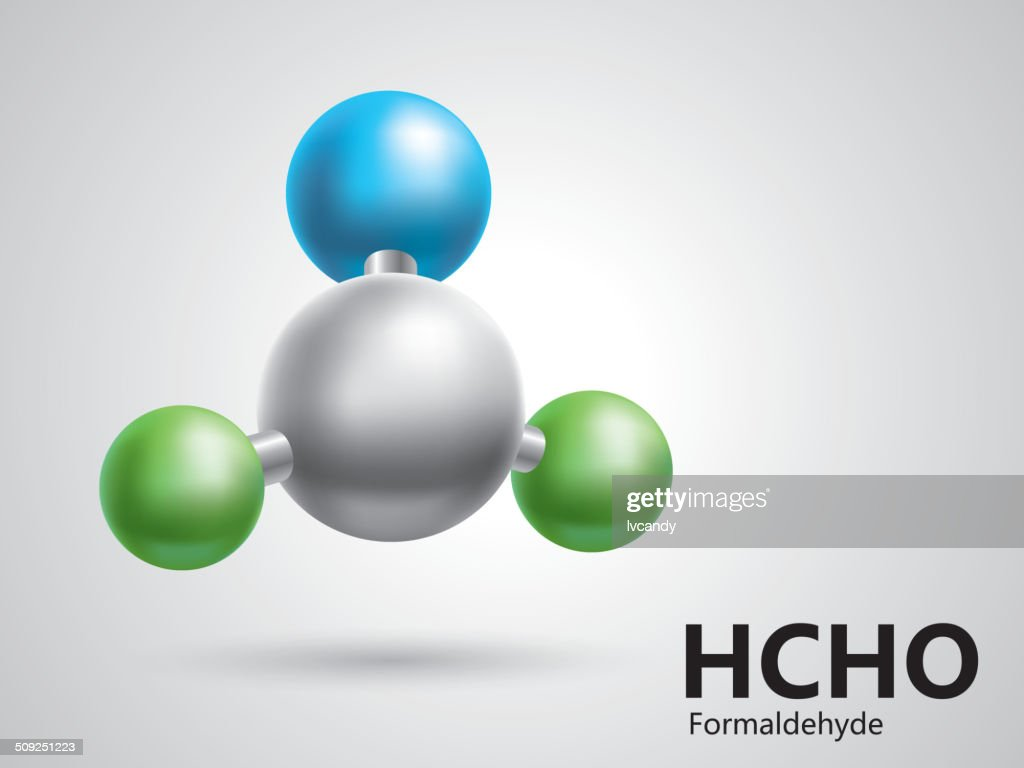 Formaldehyde molecular model : stock vector