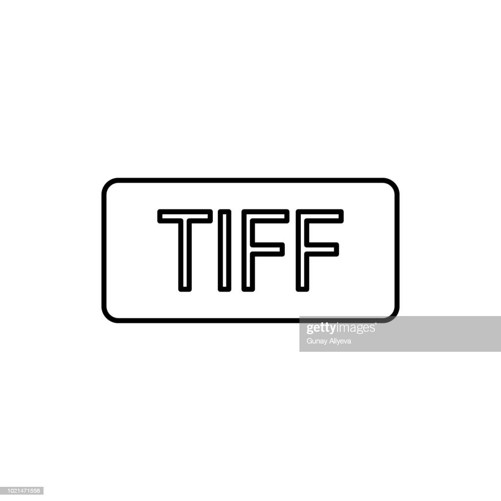 TIFF format icon. Element of simple icon for websites, web design, mobile app, info graphics. Thin line icon for website design and development, app development