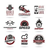 Formula 1 icon set, sport icons and sticker - 2