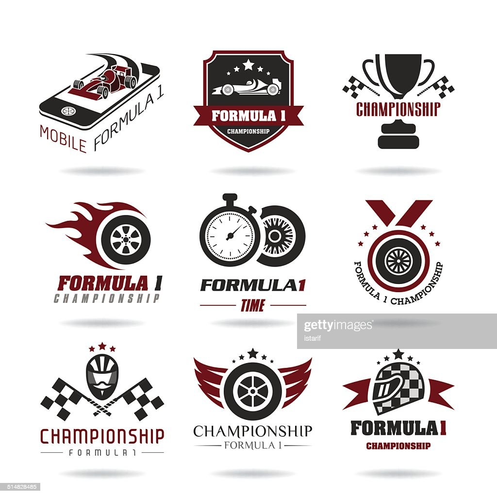 Formula 1 icon set, sport icons and sticker - 3