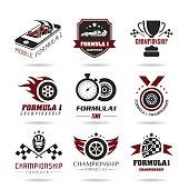 Formula 1 icon set, sport icons and sticker - 3