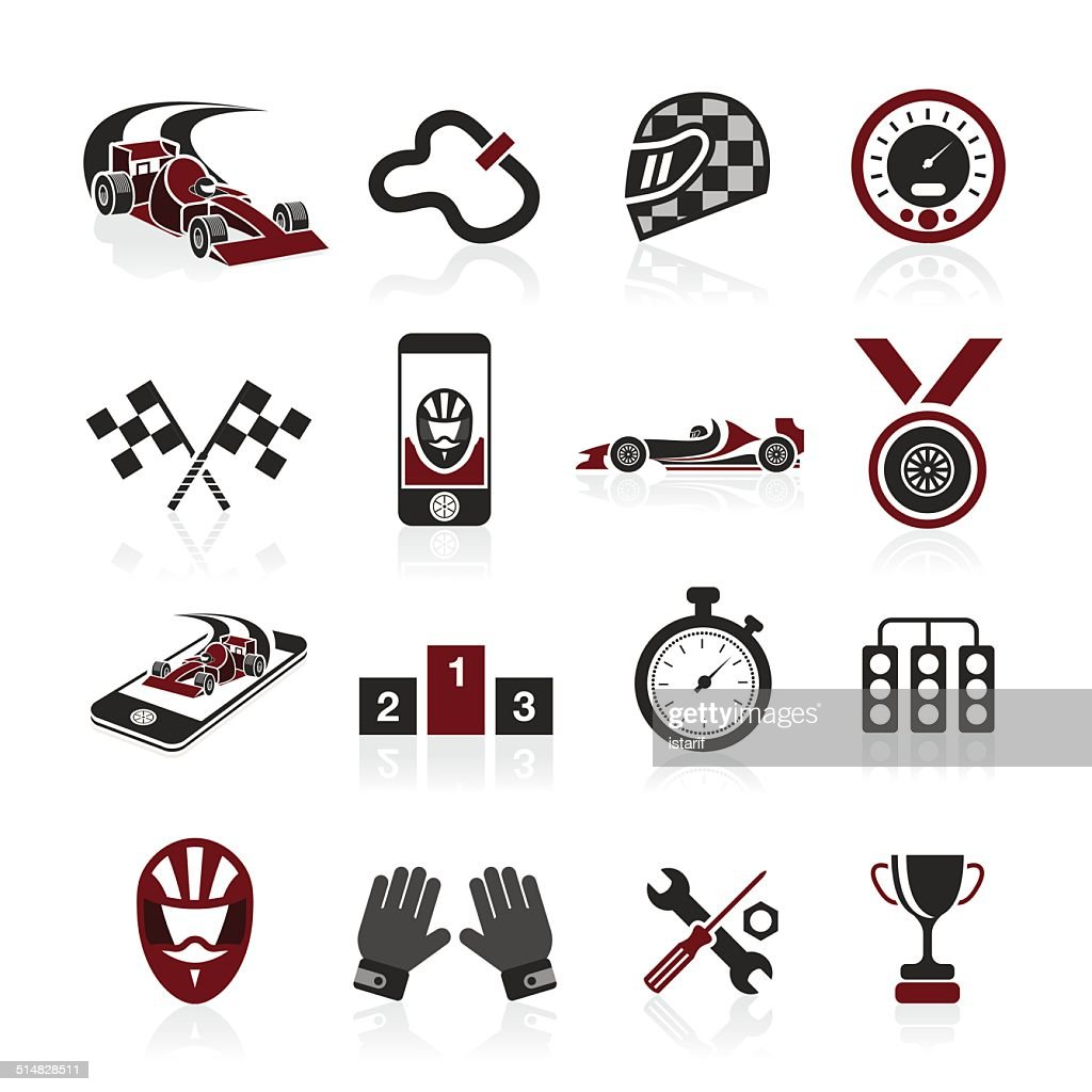 Formula 1 icon set, sport icons and sticker