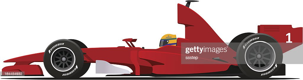 Formula 1 Sport Race Red Car
