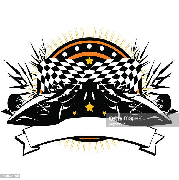 formula car banner - indianapolis stock illustrations, clip art, cartoons, & icons