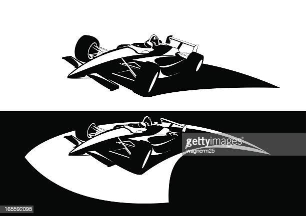 formula indy racing car two versions avaliable - race car stock illustrations, clip art, cartoons, & icons