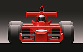 F1 Formula One Racing Icon Car Front View