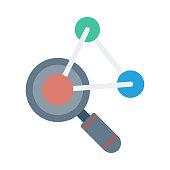 formula search Flat Vector Icon