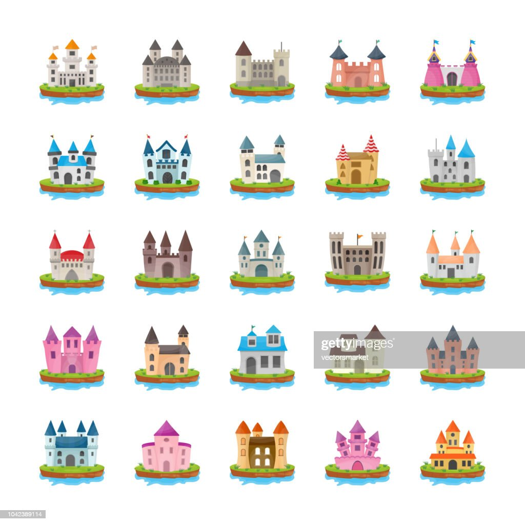Fort Flat Vector Icons