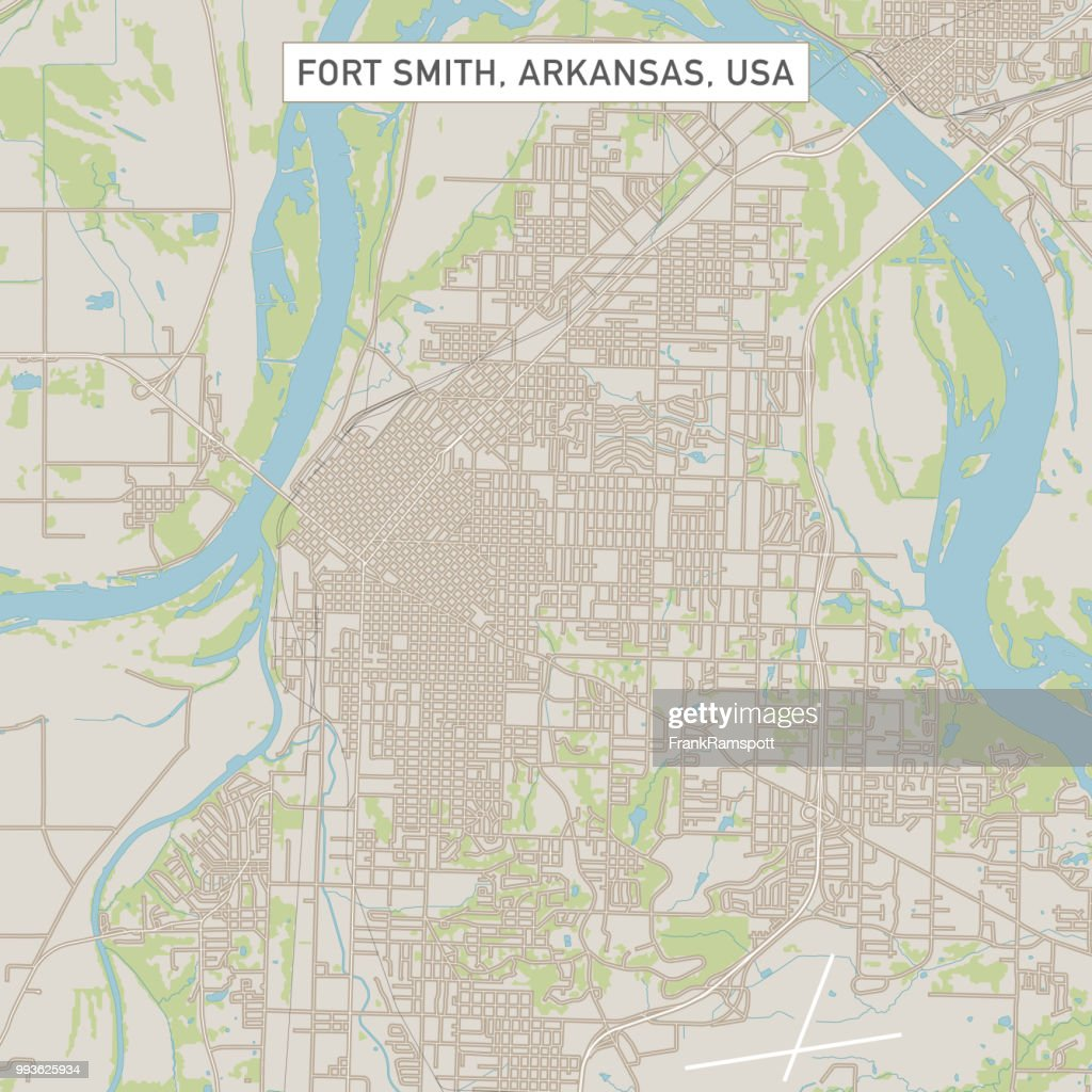 Fort Smith Arkansas USA Stadtstraße Karte : Vektorgrafik