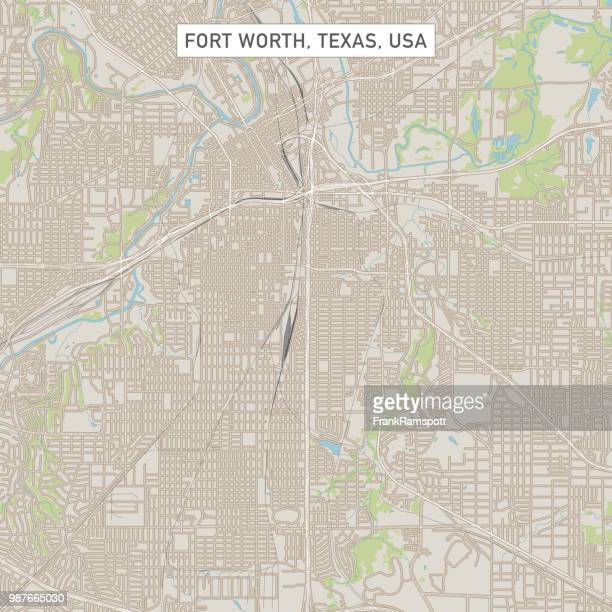 Fort Worth Texas US-Stadt Karte