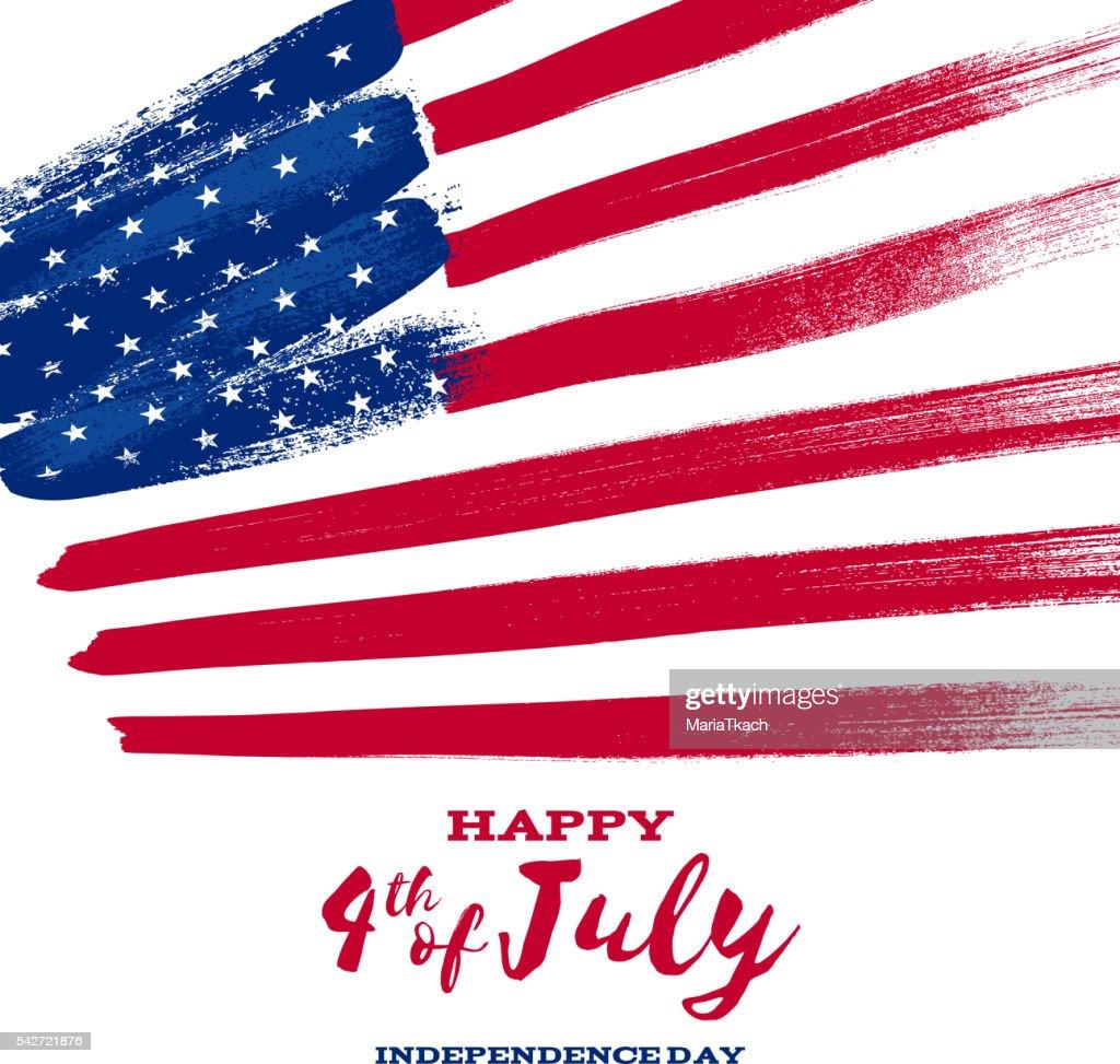 Forth July Independence day background design.