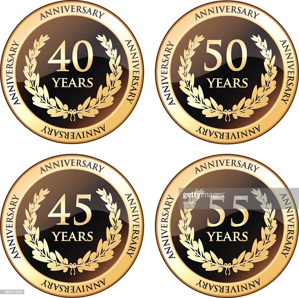 Fortieth And Fiftieth Anniversary Awards : stock illustration