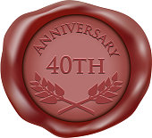 Fortieth Anniversary Wax Seal Icon