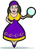 Fortune Teller Cartoon - Circus / Carnival