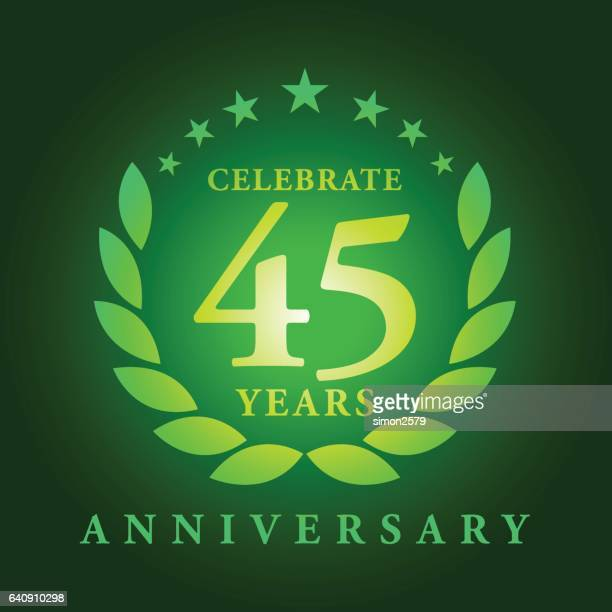 Forty Five Years Anniversary Emblem