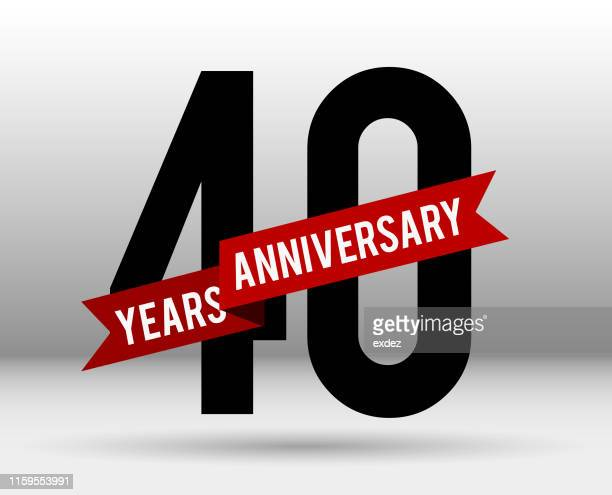 forty year anniversary - 40th anniversary stock illustrations, clip art, cartoons, & icons