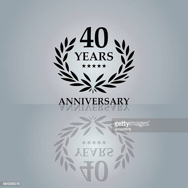 Forty Years Anniversary emblem