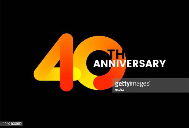 40周年記念 - 数字の40点のイラスト素材/クリップアート素材/マンガ素材/アイコン素材
