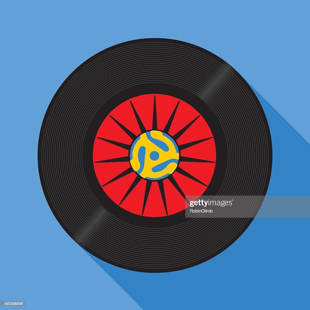 Fortyfive RPM Record : stock illustration