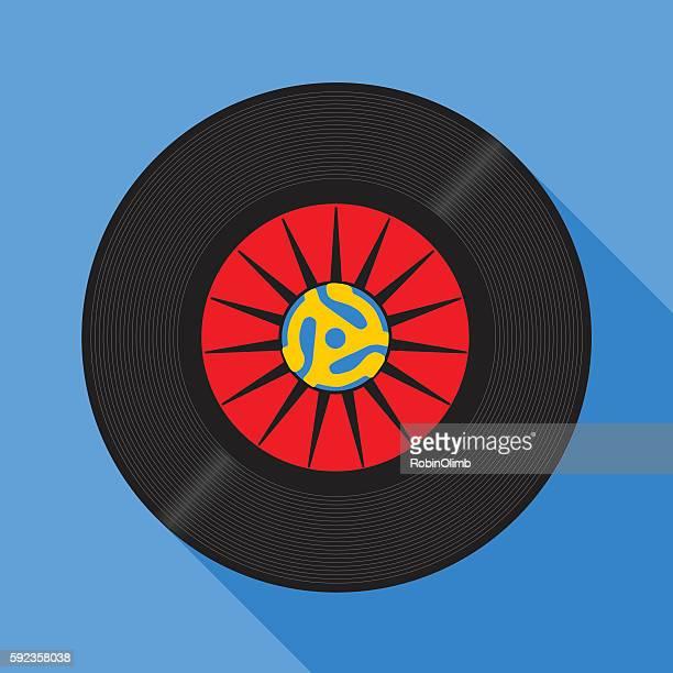 fortyfive rpm record - adaptor stock illustrations