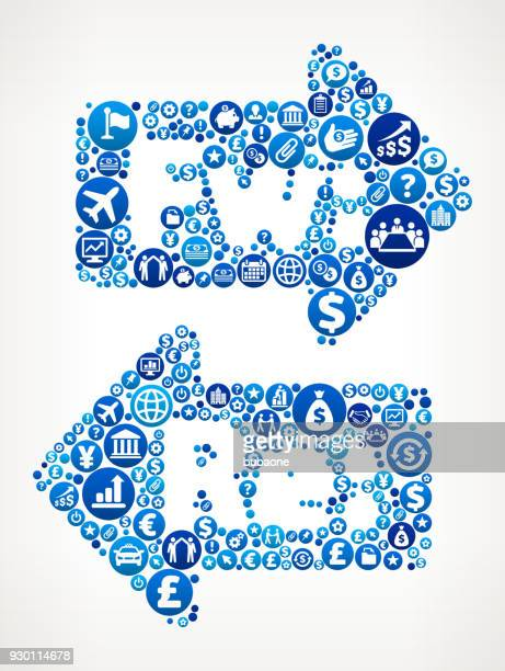 stockillustraties, clipart, cartoons en iconen met voorwaarts & antwoord business and finance blauwe pictogram patroon - e mail