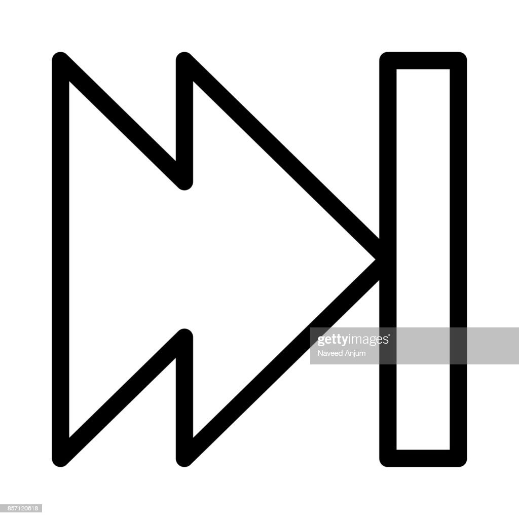 forward Thin Line Vector Icons